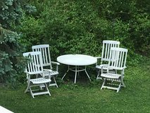 : ) Poolside Patio Furniture Set: 4 Chairs and Round Table.  !!! in Aurora, Illinois