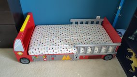 Firetruck toddler bed in Naperville, Illinois