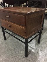 2 drawer solid wood side table & coffee table with glass in Naperville, Illinois