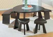 Dining room table with 2 benchs and 2 stools in Temecula, California