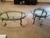 Glass coffee and end table in DeKalb, Illinois