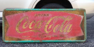 Coca Cola Fishtail Metal Sign ca. 1961 or 1962 in Fort Knox, Kentucky