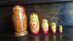 Antique USSR nesting dolls 5pce set in Kingwood, Texas