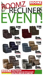 ROOMZ RECLINER SALE! in Camp Lejeune, North Carolina