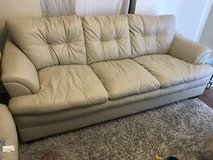 Leather beige couch and love seat in Fort Polk, Louisiana