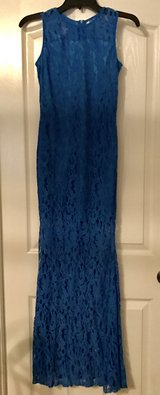 Blue Lace Mermaid dress size Small in Fort Benning, Georgia