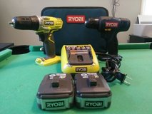 Nice set of 12v roybi drills in Clarksville, Tennessee