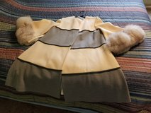 Beautiful jacket/shawl with real fur sleeves in Kankakee, Illinois