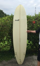 7' Hot Curl Surfboard and Sock in Okinawa, Japan
