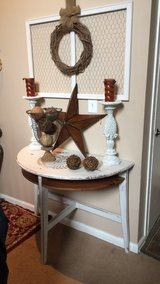 Shabby chic entryway / sofa table. in Chicago, Illinois