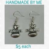 I LOVE FOOTBALL EARRINGS in Columbus, Georgia