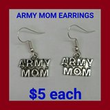 ARMY MOM EARRINGS in Fort Benning, Georgia