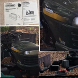 """REDUCED FROM $350  Craftsman  LT1000 Lawn Tractor 42"""" Riding Mower w/ Grass Catcher in Perry, Georgia"""