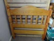 Single Pine wooden bed in Lakenheath, UK