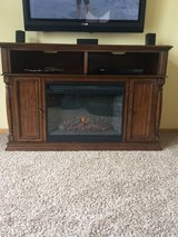 Electric fireplace/ tv stand in Lockport, Illinois