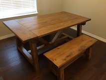 Kitchen Table With Benches Unfinished/Finished (made to order) in Fort Carson, Colorado