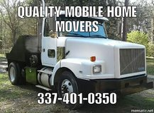Mobile home mover in Leesville, Louisiana