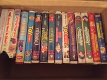 Disney and Barney VHS tapes in Bolingbrook, Illinois