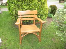 rustic wooden lawn chair in Ramstein, Germany