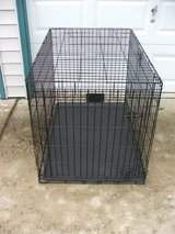 Fold-up Dog Crate / Double Door for Large Breeds in Lockport, Illinois
