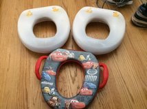 Disney cars and yellow duck potty seat in Naperville, Illinois