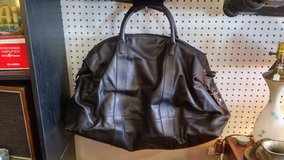 Coach Black Leather Travel Duffle Bag in 29 Palms, California