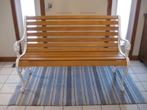 Cute Cast Iron and Wood Bench in Lockport, Illinois