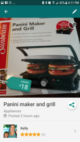 Panini maker and grill in Travis AFB, California