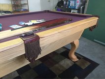 Olhausen Gibraltar Oak slate pool table in Travis AFB, California