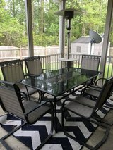 7 piece patio set includes table with 6 chairs in Camp Lejeune, North Carolina
