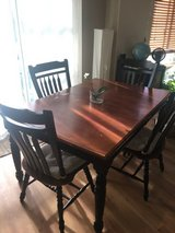 Solid Wood Dining Table + Chairs in Fort Lewis, Washington