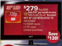 """32"""" hct flat screen tv's x two in Keesler AFB, Mississippi"""