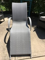 Crate and Barrel outdoor chaise in Lockport, Illinois
