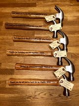 Laser engraved Father's Day hammers and signs in Fort Drum, New York