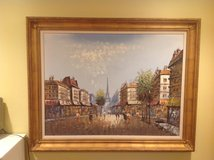 Oil painting of Paris France in Naperville, Illinois