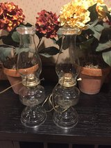 Cabin Ready antique matching oil lamps converted to electric in Bolingbrook, Illinois