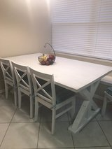 Farmhouse solid wood table and chairs in Baytown, Texas