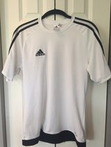 Adidas Climalite white classic three stripe (men's small, boy's large)) in Lockport, Illinois