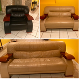 Leather chair, loveseat and couch in Naperville, Illinois