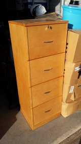 Wooden Desk and Filing Cabinet in Clarksville, Tennessee