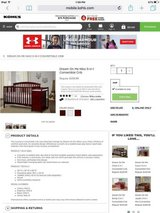 Crib- In good condition in Yucca Valley, California