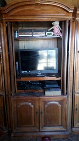Solid Wood Entertainment Center in Yucca Valley, California