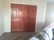Wood Double Entry Doors in Yucca Valley, California