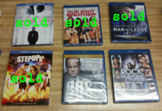 BRAND NEW BLU-RAYS ~ ALL SEALED in Fort Benning, Georgia