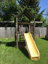 Playhouse swing fort for backyard in Yorkville, Illinois