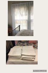 White Lace Curtains  - 20 Panels Total - 10 Pair Total  - 84 inch length in Baytown, Texas
