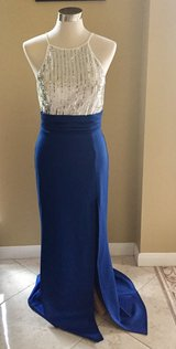 Sequined White and Blue Spaguetti strap Dress in Sugar Land, Texas