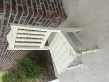 Shabby white wooden chair in Fort Rucker, Alabama