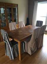 Dining room table with 6 chairs and China cabinet in Bartlett, Illinois
