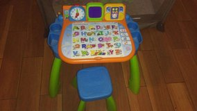 Fisher price activity table with chair in Hinesville, Georgia